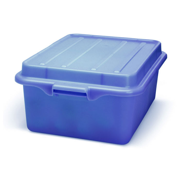 """Vollrath 1507-C04 Food Storage Drain Box - With Cover and Drain, 15x20x7"""", Blue"""