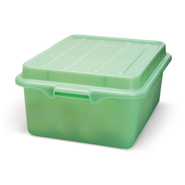 """Vollrath 1507-C19 Food Storage Drain Box - With Cover and Drain, 15x20x7"""", Green"""