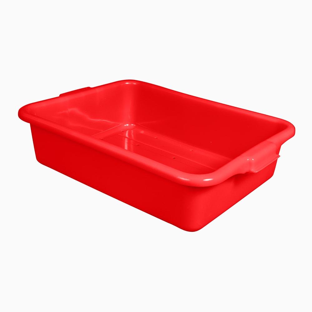 "Vollrath 1511-C02 Drain Box - Handles, 20x15x5"", Red"