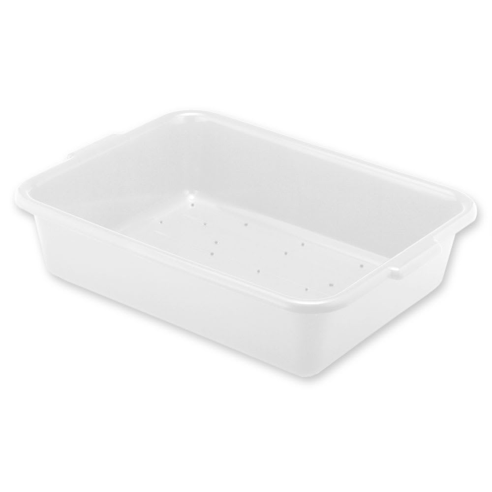 "Vollrath 1511-C05 Drain Box - Handles, 20x15x5"", White"