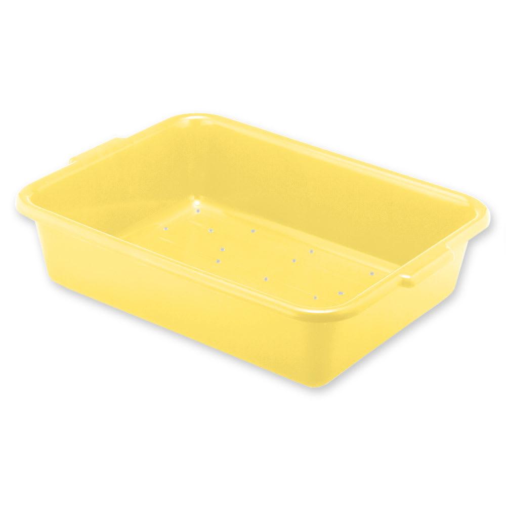 "Vollrath 1511-C08 Drain Box - Handles, 20x15x5"", Yellow"