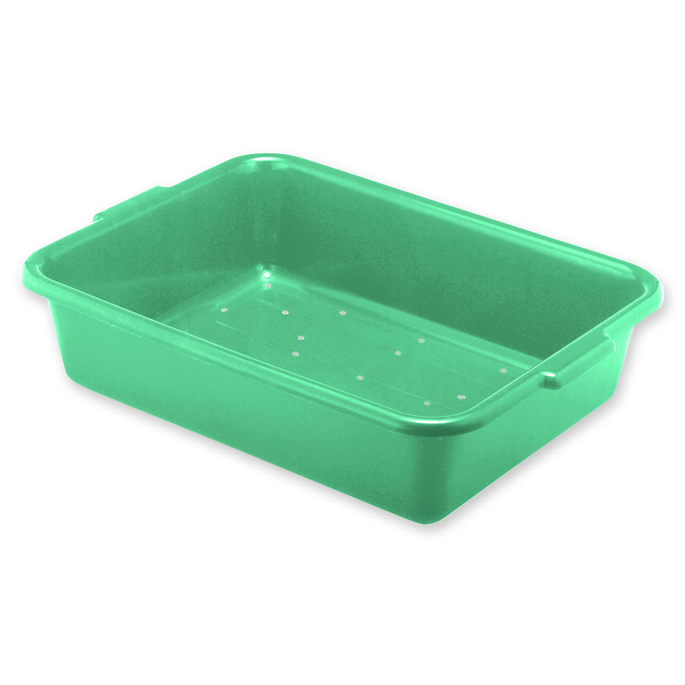Vollrath 1517-C19 Drain Box - Handles, 20x15x7, Plastic, Green