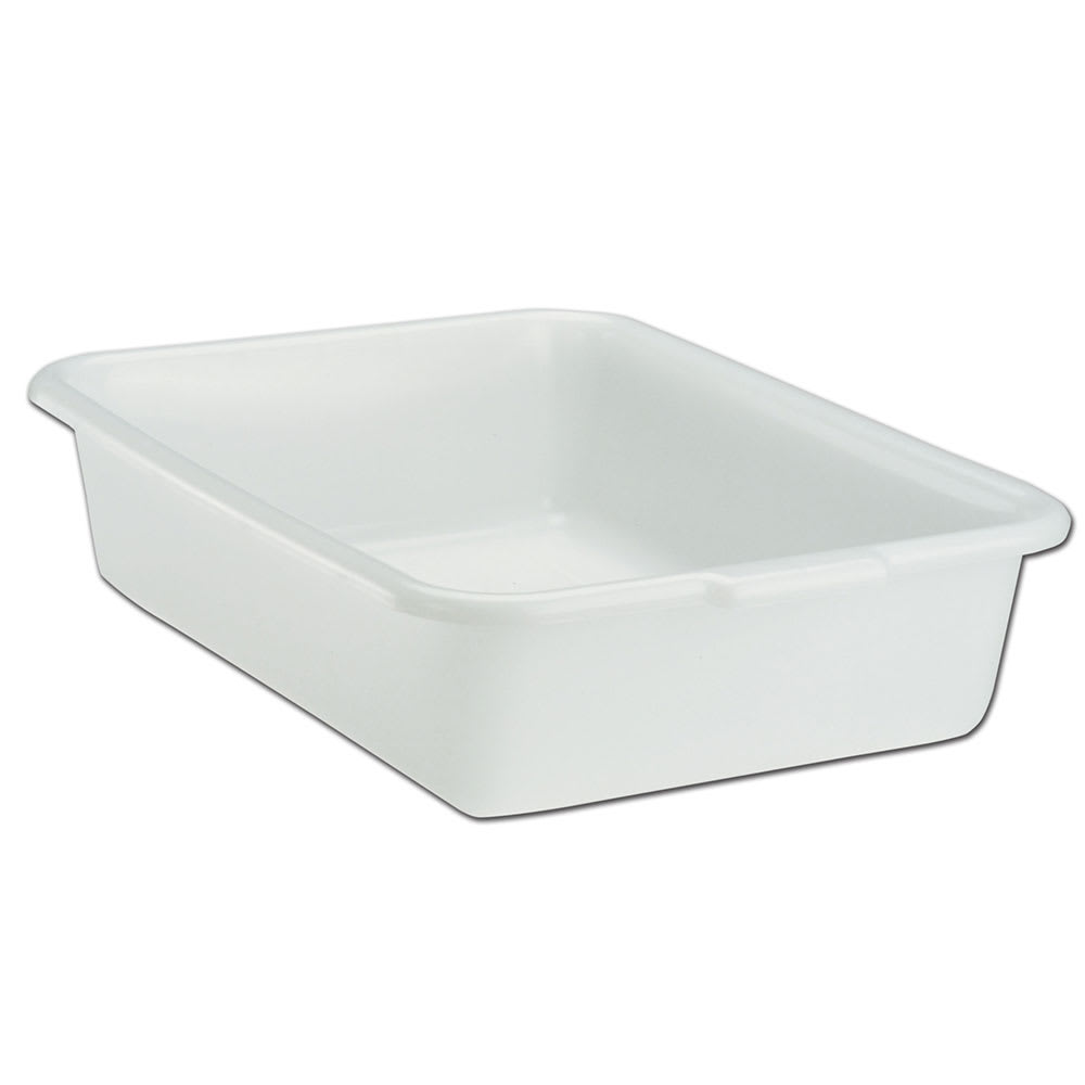"Vollrath 1521-05 Deluxe Bus Box - 1-Compartment, 15 x 20 x 5"", Plastic, White"