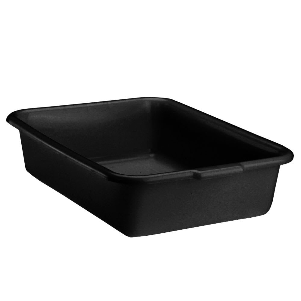 "Vollrath 1521-06 Deluxe Bus Box - 1-Compartment, 15 x 20 x 5"", Plastic, Black"