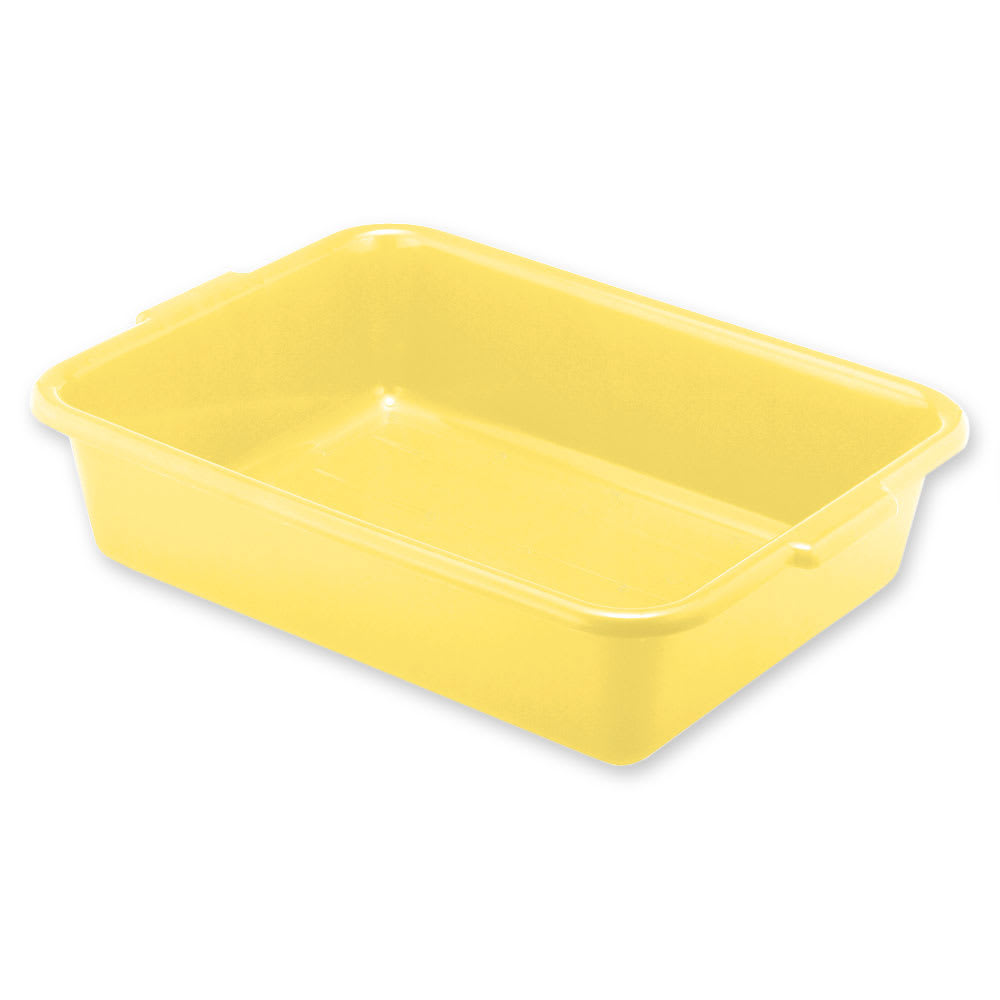 "Vollrath 1521-C08 Food Storage Box - Handles, 15x20x5"", Plastic, Yellow"