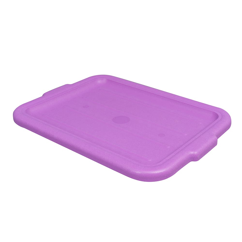 "Vollrath 1522-C80  Food Box Lid - 15"" x 20"", Plastic, Recessed, Purple"