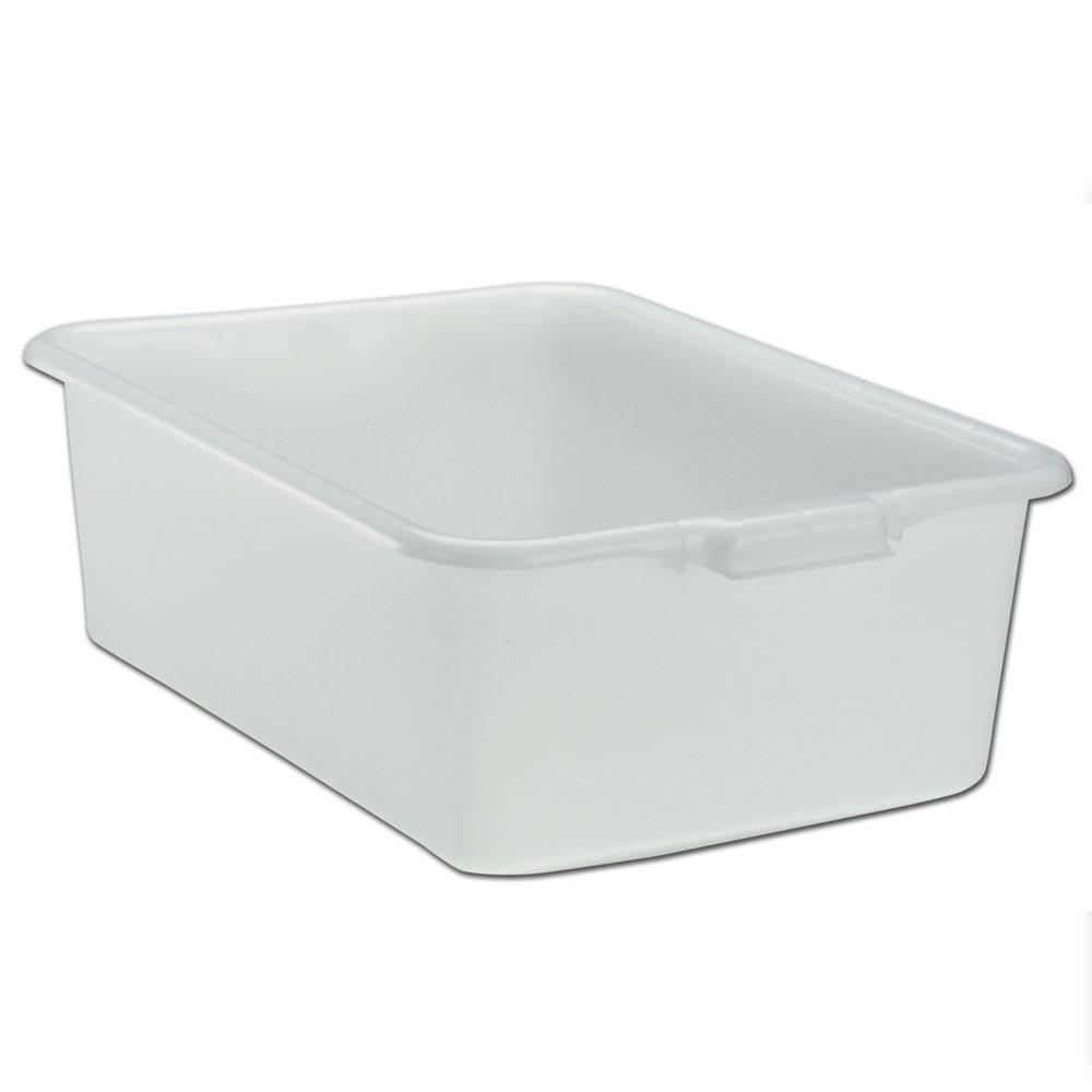 "Vollrath 1527-05 Bus Box - 1-Compartment, 15x20x7"", Plastic, White"