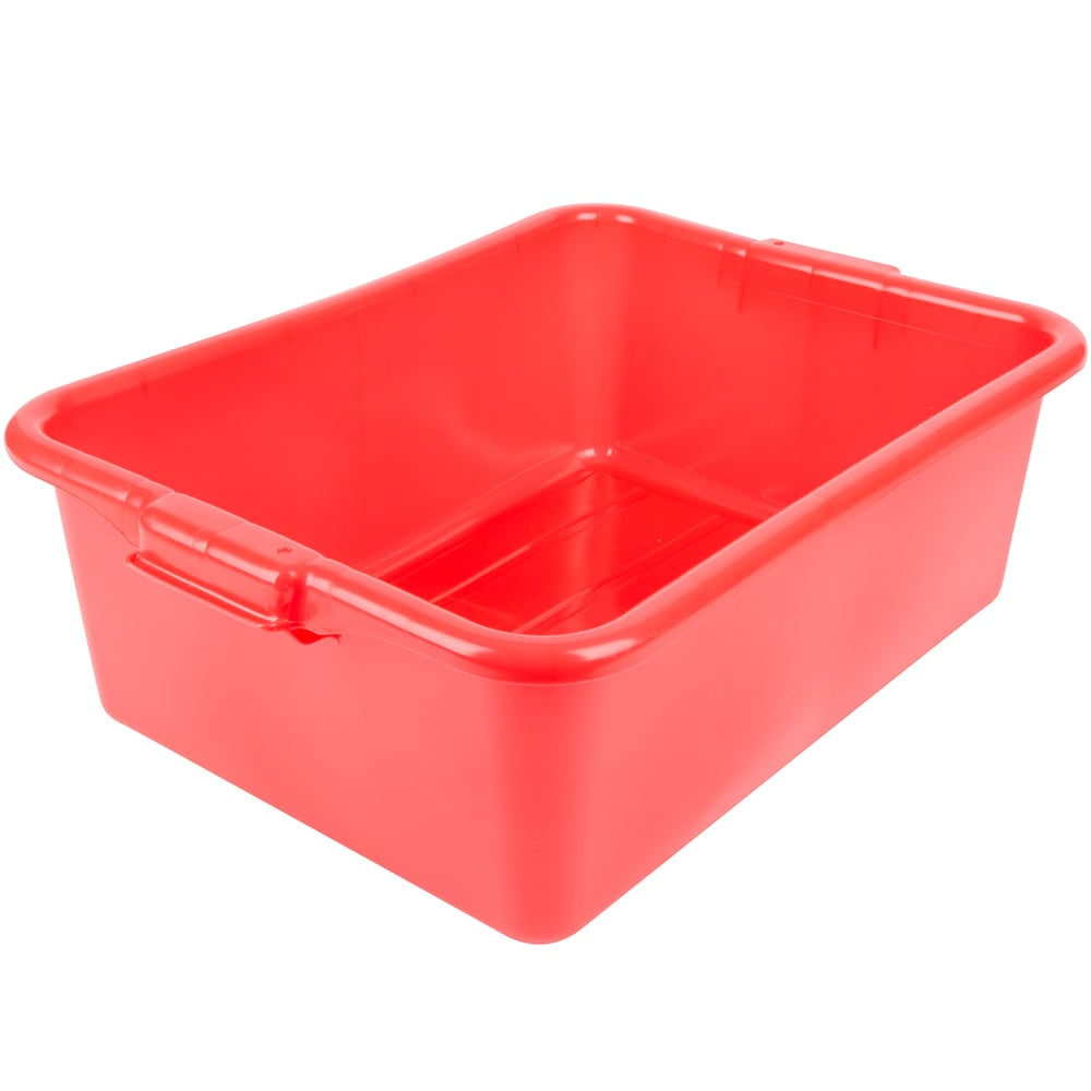 "Vollrath 1527-C02 Food Storage Box - Molded Handles, 20x15x7"", Red"