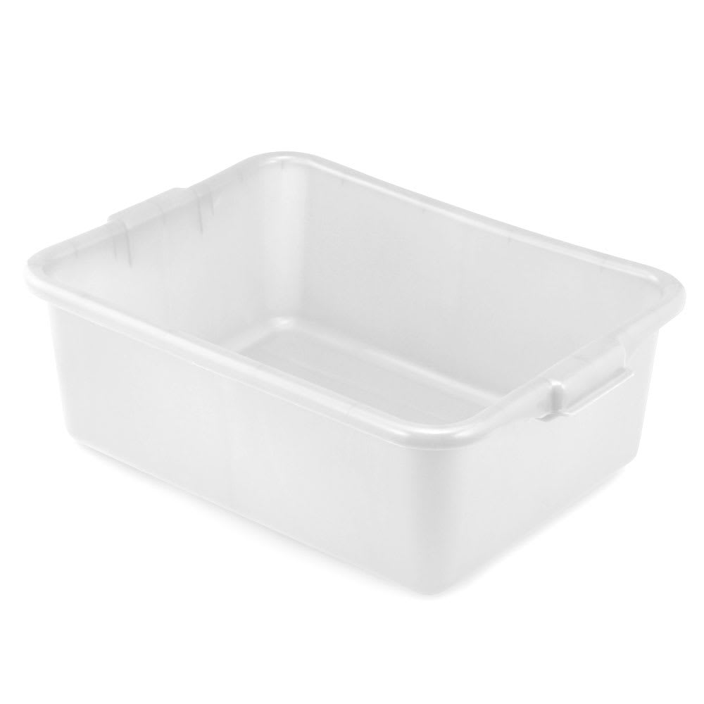 "Vollrath 1527-C05 Food Storage Box - Molded Handles, 20x15x7"", White"