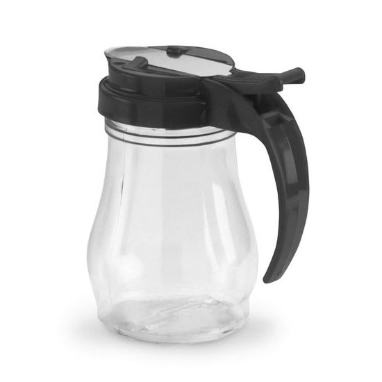 Vollrath 1606-06 7-oz Syrup Jar - Black Cap, Poly, Clear