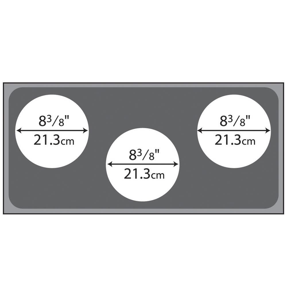 "Vollrath 19188 Adaptor Plate, (3) 8.37"" Holes, Stainless Steel"