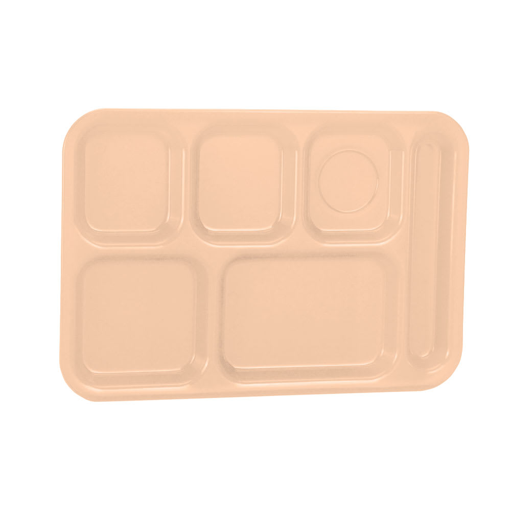 "Vollrath 2015-09 School Compartment Tray - Right Hand, 9-7/8x14-3/4"", Tan"