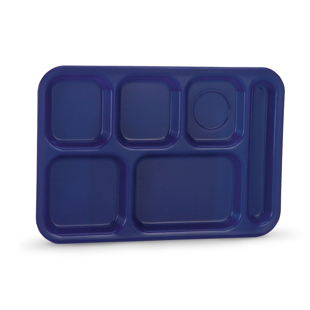 "Vollrath 2015-104 School Compartment Tray - Right Hand, 9 7/8x14 3/4"", Blue"