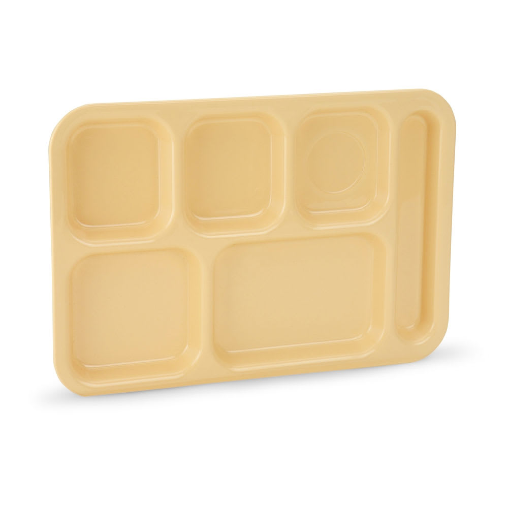 "Vollrath 2615-09 School Compartment Tray - Right Hand, 9 3/4x13 3/4"", Tan"