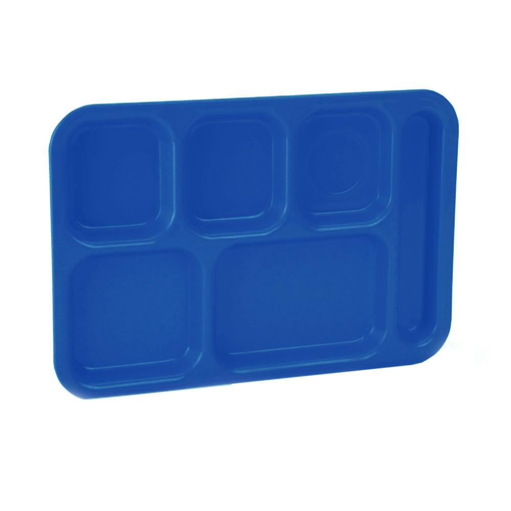 "Vollrath 2615-104 School Compartment Tray - Right Hand, 9-3/4x13-3/4"", Bright Blue"