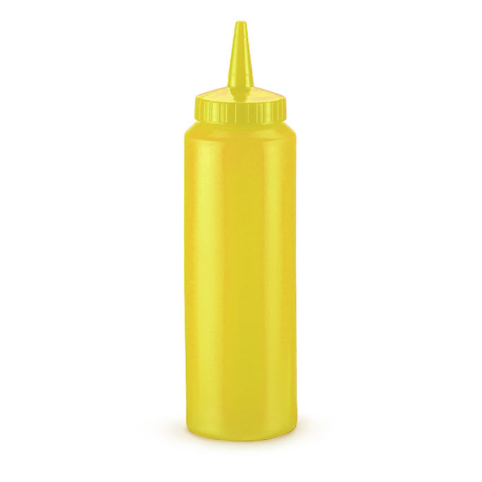 Vollrath 2808-08 8-oz Squeeze Dispenser - Yellow Cap, Yellow