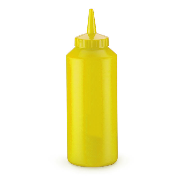 Vollrath 2812-08 12-oz Squeeze Dispenser - Yellow Cap, Yellow