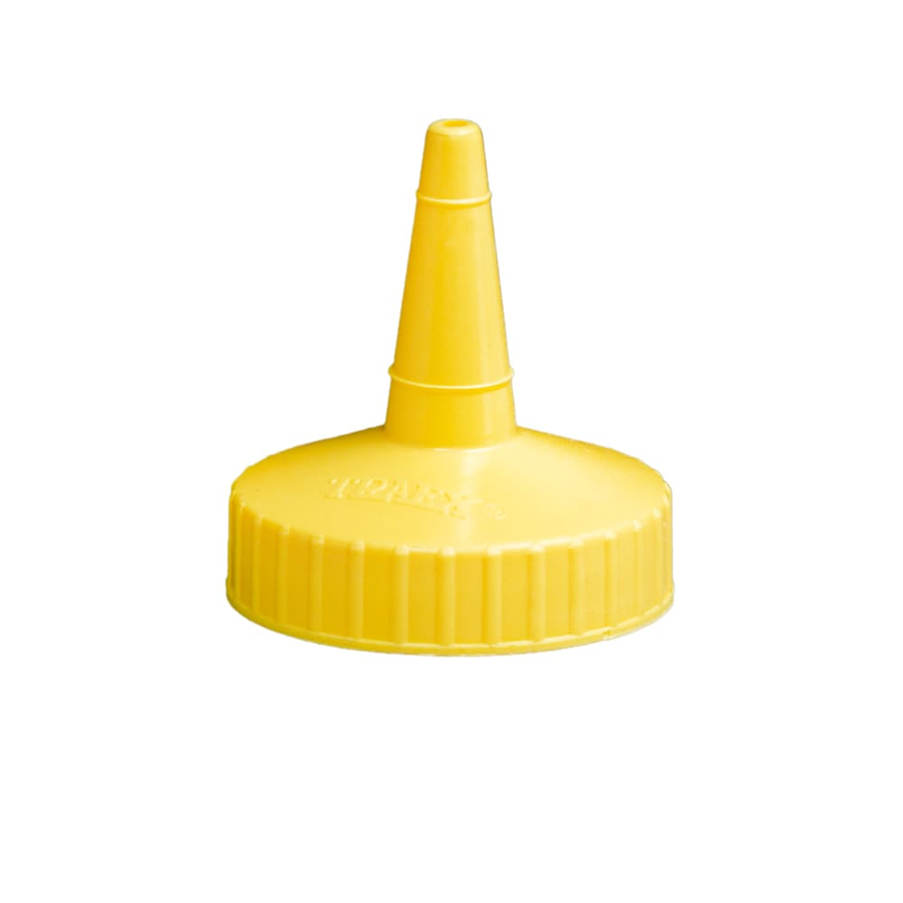Vollrath 2813-08 Squeeze Dispenser Replacement Cap - Yellow