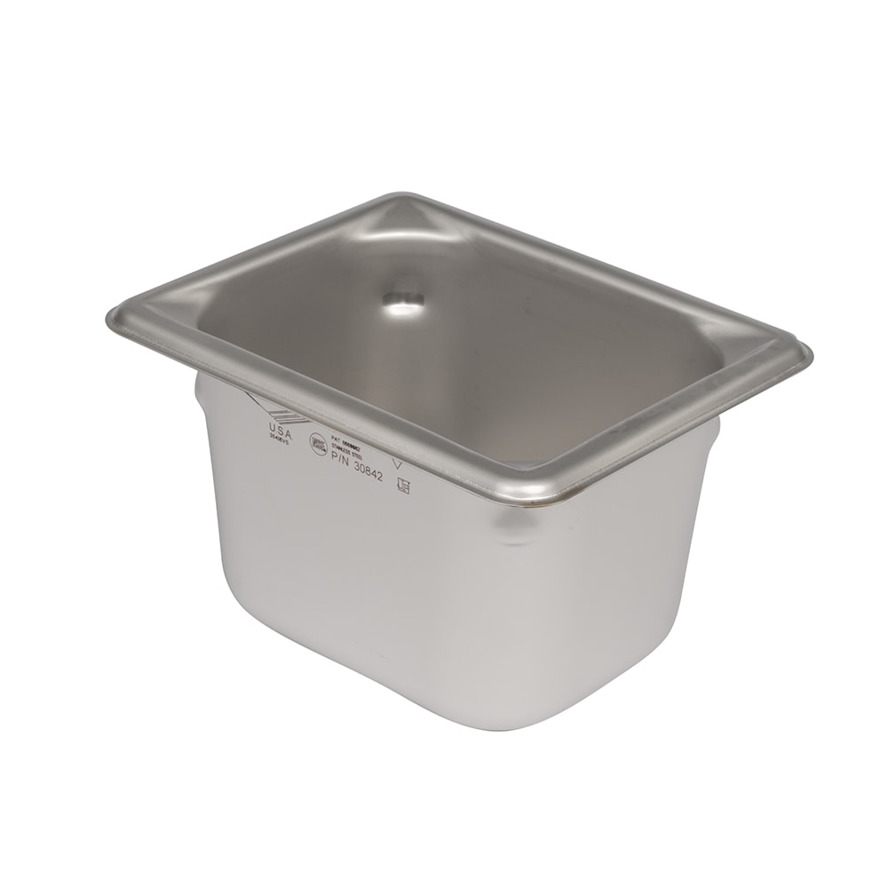 Vollrath 30842 Eighth-Size Steam Pan, Stainless