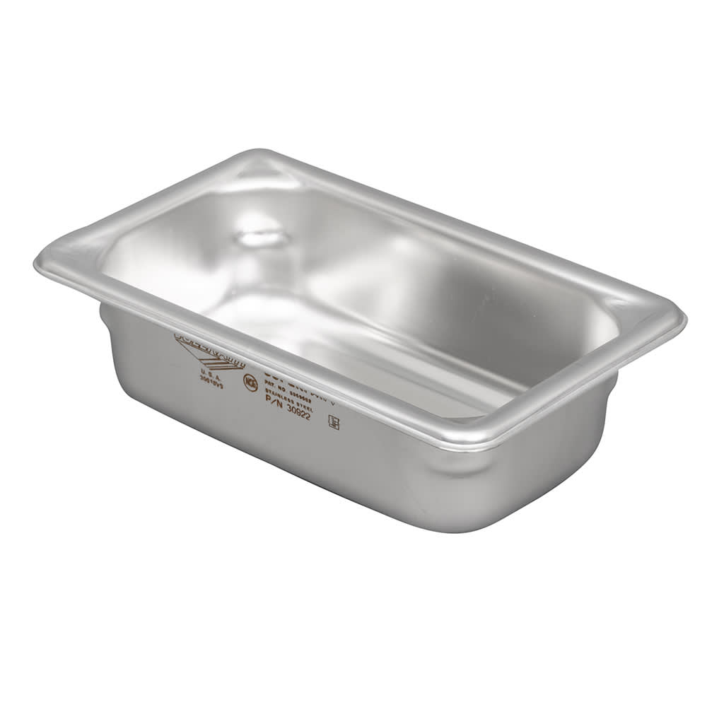 Vollrath 30922 Super Pan V Ninth-Size Steam Pan, Stainless