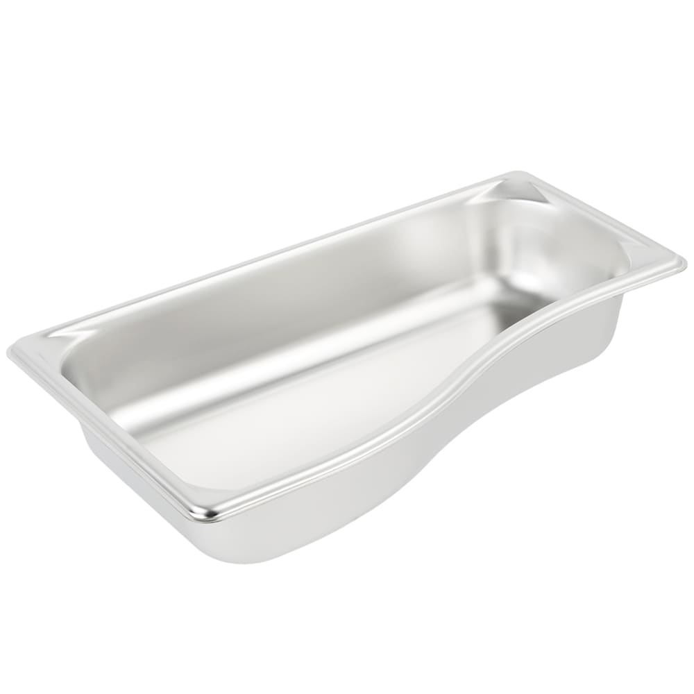 Vollrath 3100320 Super Pan Shapes Third-Size Steam Pan - Wild, Stainless