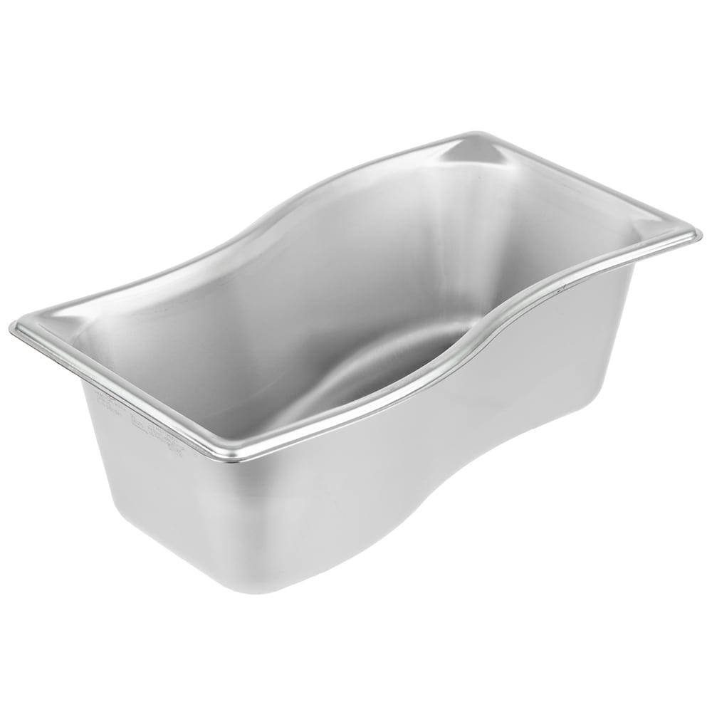"Vollrath 3100341 Super Pan Shapes Steam Table Wild Inner Pan - 1/3 Size, 4"" Deep, 22 ga Stainless"