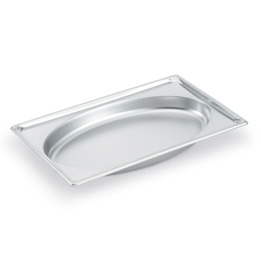 Vollrath 3101020 Super Pan Shapes Full-Size Steam Pan - Oval, Stainless