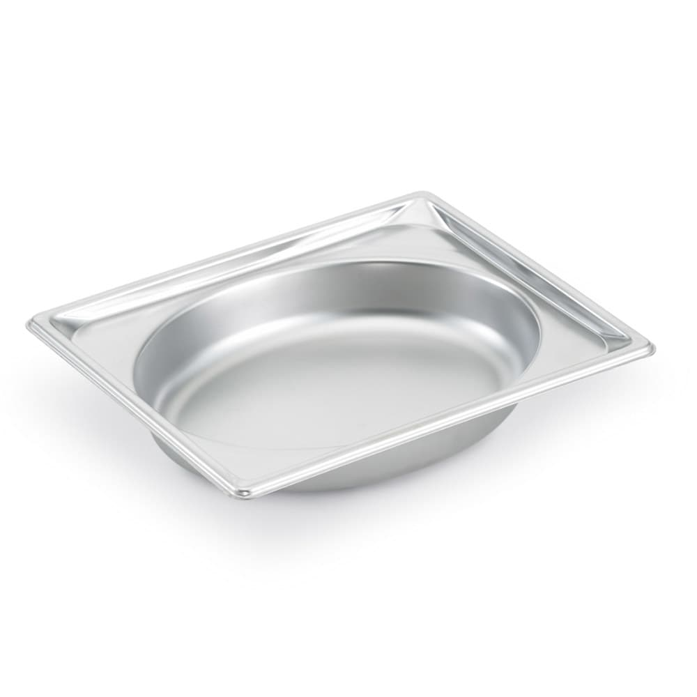 Vollrath 3102040 Super Pan Shapes Half-Size Steam Pan - Oval, Stainless