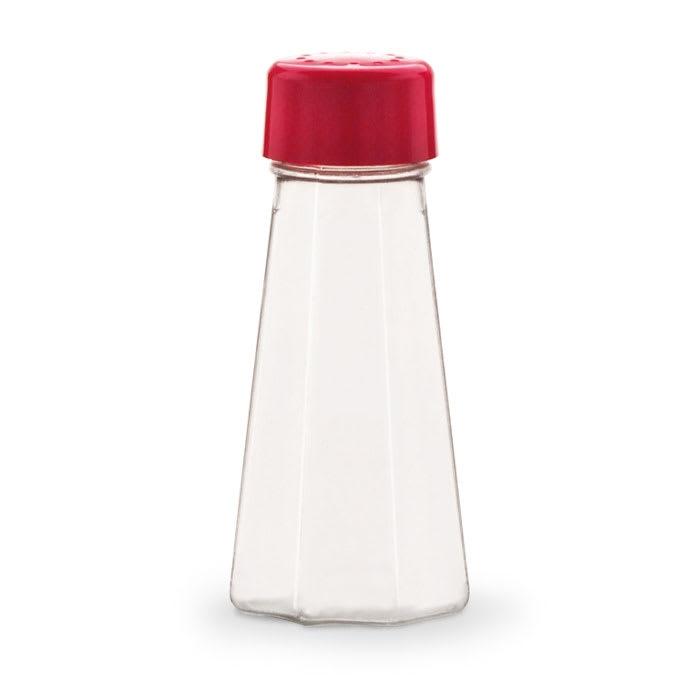 """Vollrath 313-02 4.625"""" Shaker for Salt/Pepper - Plastic Lid, Paneled"""