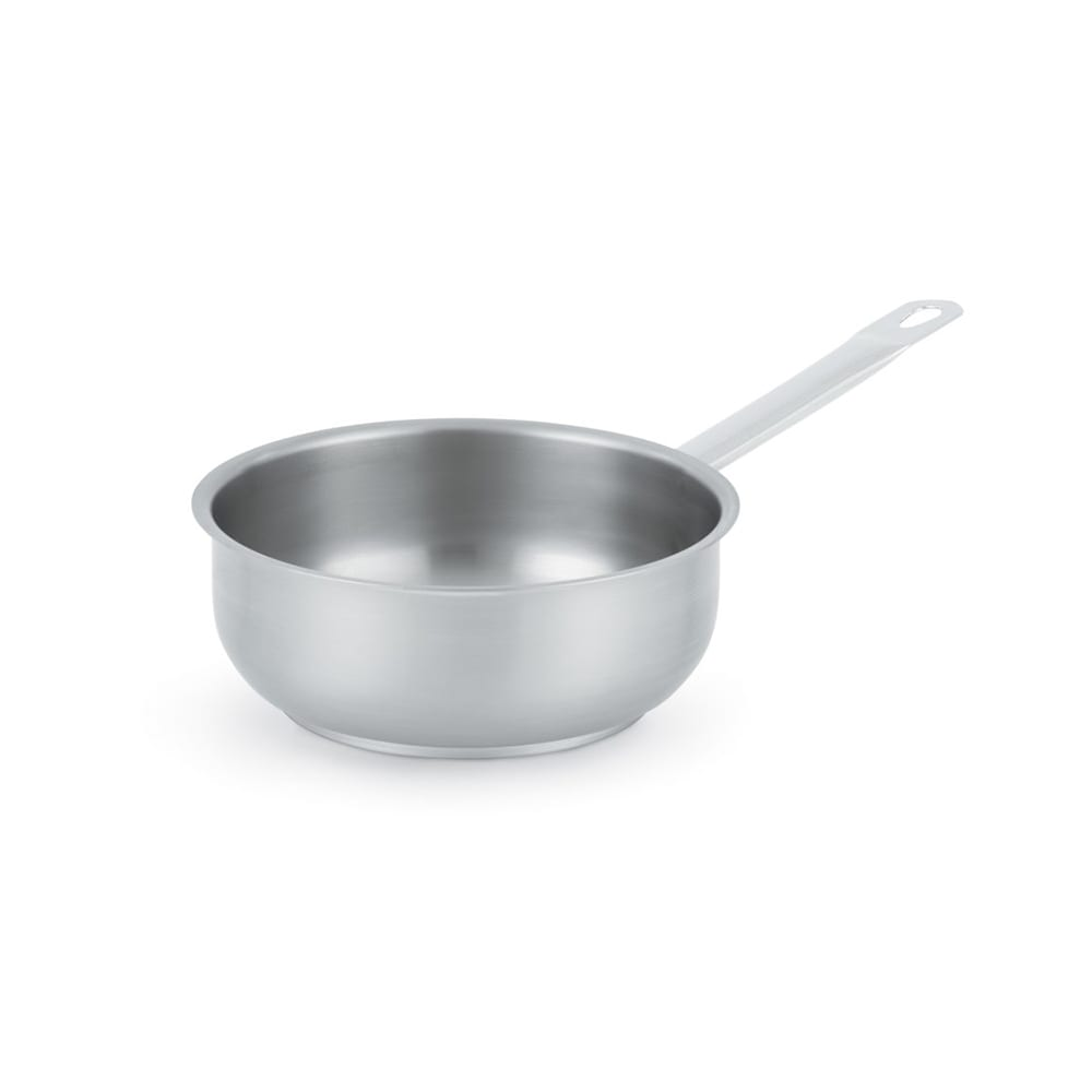 """Vollrath 3150 7"""" Induction Saute Pan - Curved, Aluminum Bottom, 18 ga Stainless"""