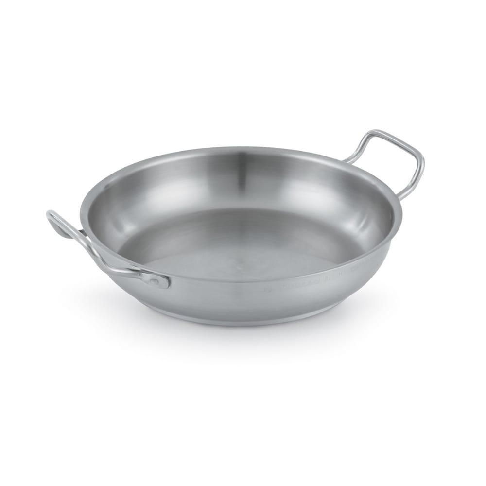 """Vollrath 3154 9.5"""" Stainless Steel Omelette Pan w/ Loop Handles"""