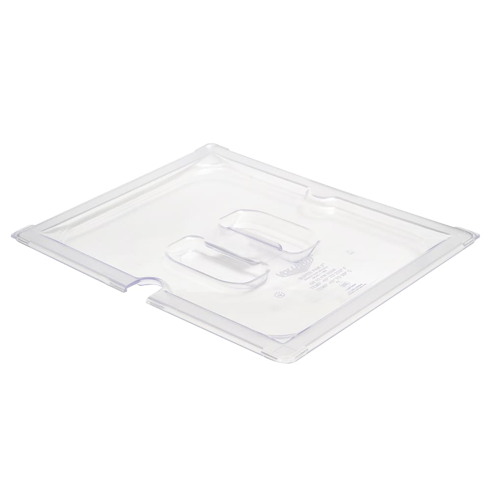 Vollrath 32200 Half-Size Slotted Food Pan Cover - Clear