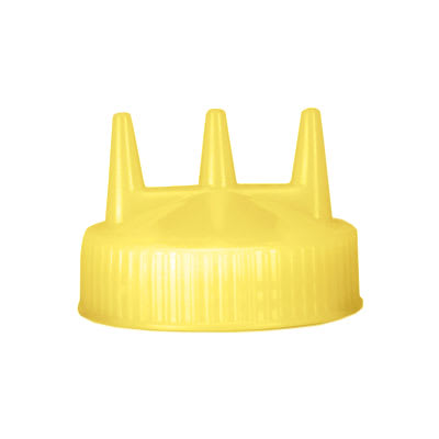 Vollrath 3300-08 Tri-Tip Replacement Cap - For 16,24,32 oz, Wide Mouth, Yellow