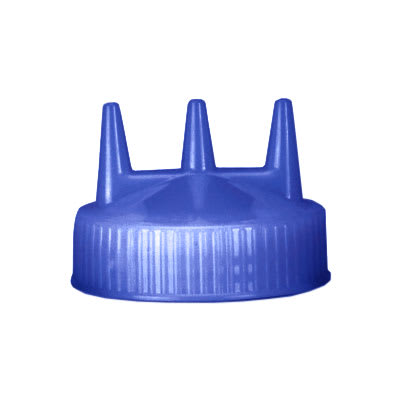 Vollrath 3300-44 Tri-Tip Replacement Cap - For 16,24,32-oz, Wide Mouth, Blue