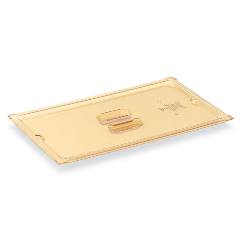 Vollrath 33400 1/4 Size High-Heat Solid Food Pan Cover - Amber