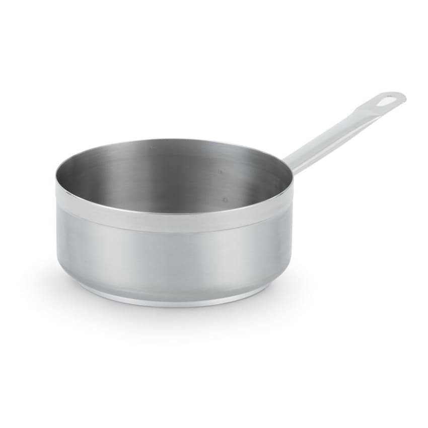 "Vollrath 3604 9 1/2"" Induction Saute Pan - 4 1/2 qt, Aluminum Bottom, 18 ga Stainless"