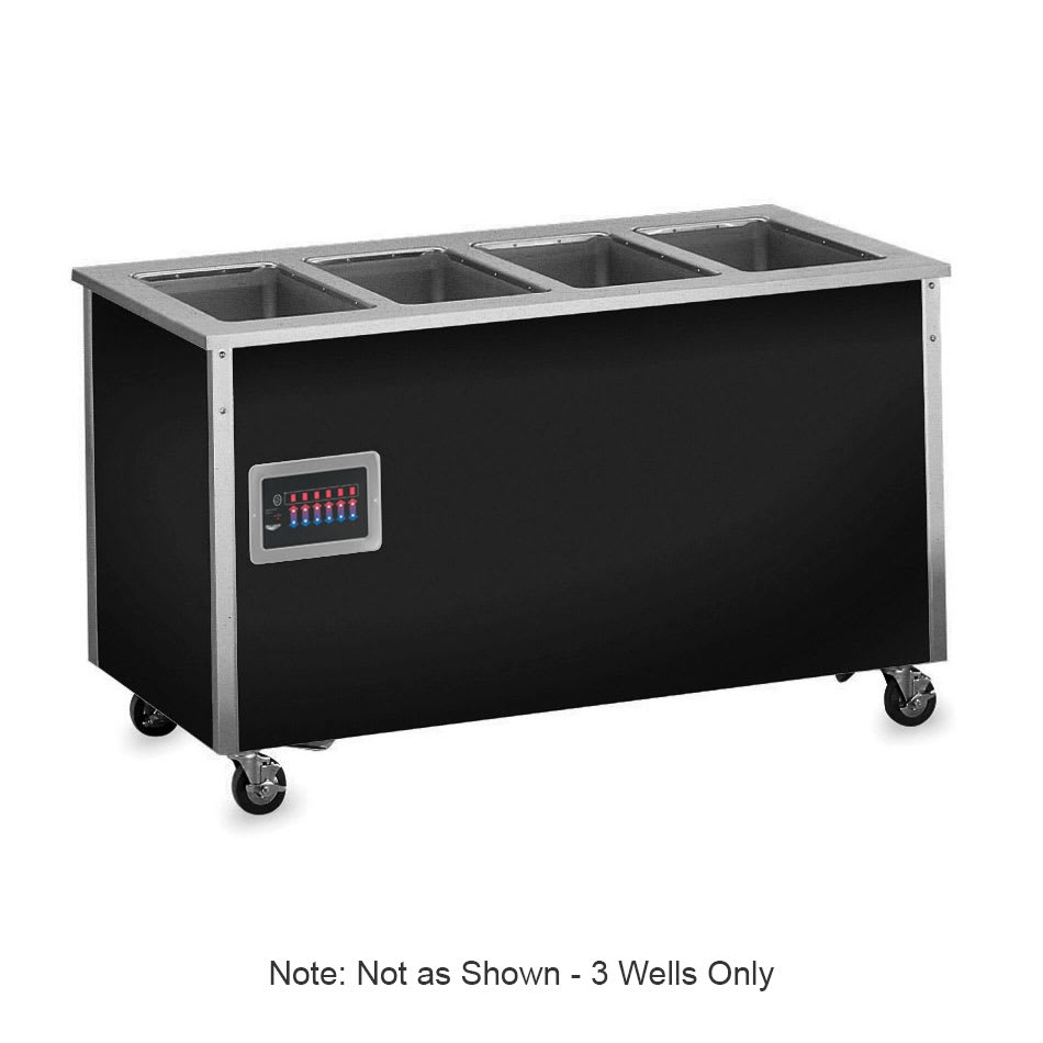 "Vollrath 36130 46"" Hot Food Bar - 3 Full Size Pan Wells, 30x46x28"", Enclosed Base, Stainless"