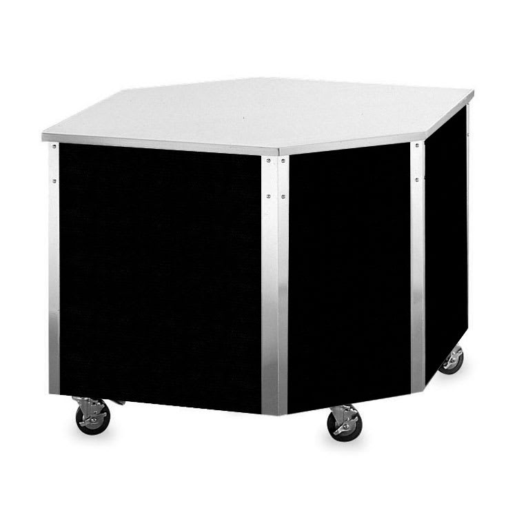 "Vollrath 36285 Corner Serving Station - 27x19-5/16x28x28"", Enclosed Base, Stainless"