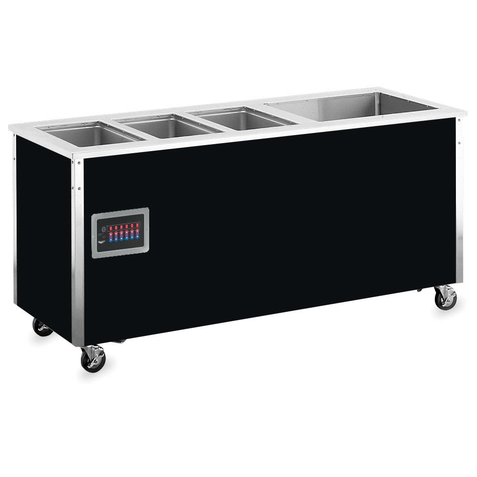 "Vollrath 36295 74"" Hot/Cold Food Station - 3 Hot Wells, 1 Refrigerated Cold Pan, 27x74x28"