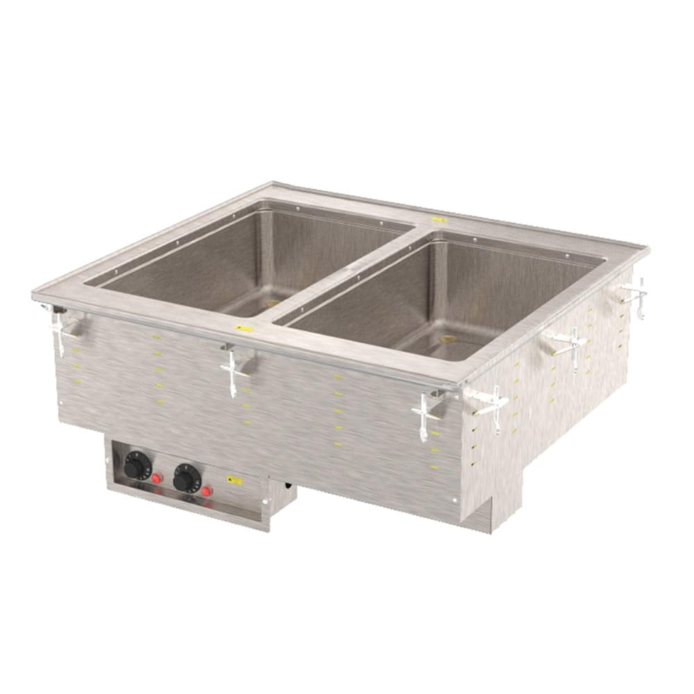 Vollrath 3639901 2-Hot Well Modular Drop-In - Infinite Control, Standard Drain, 1000W, 120v