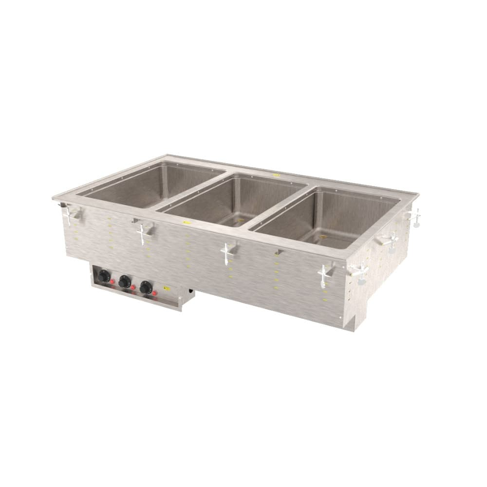 Vollrath 36405 Drop-In Hot Food Well w/ (3) Full Size Pan Capacity, 120v