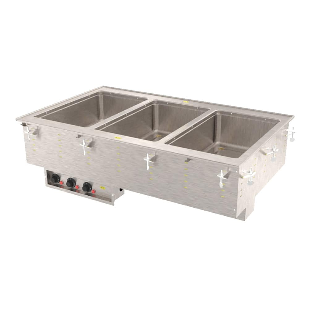Vollrath 3640511 3-Well Modular Drop-In - Thermostat, Standard Drain, 1000W, 208-240v