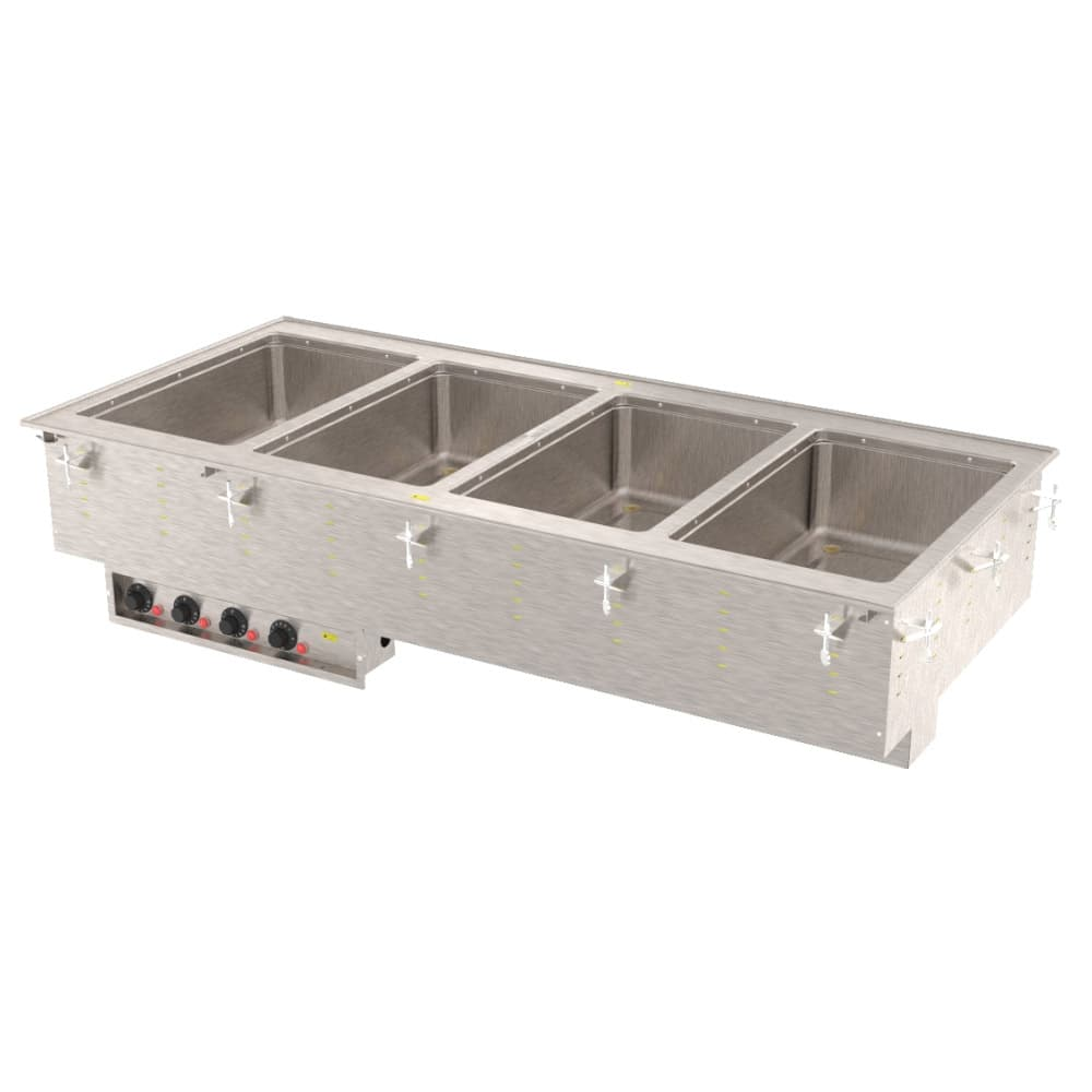 Vollrath 3640701 4-Well Modular Drop-In - Infinite, Standard Drain, 1000W, 208-240v
