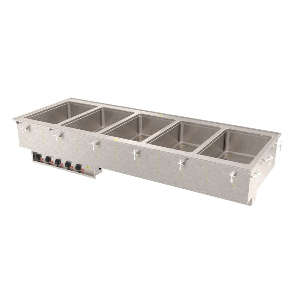 Vollrath 36408 Drop-In Hot Food Well w/ (5) Full Size Pan Capacity, 208v/1ph