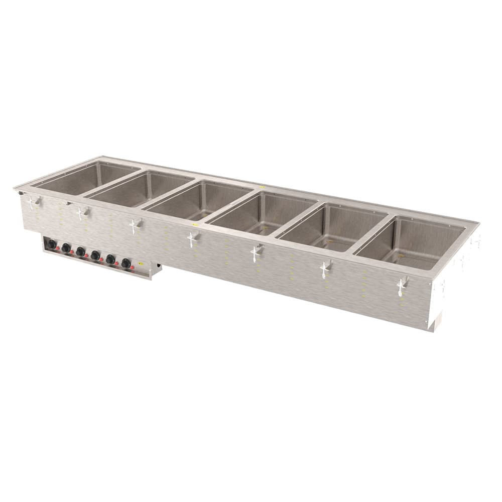 Vollrath 36409 Drop-In Hot Food Well w/ (6) Full Size Pan Capacity, 208v/1ph