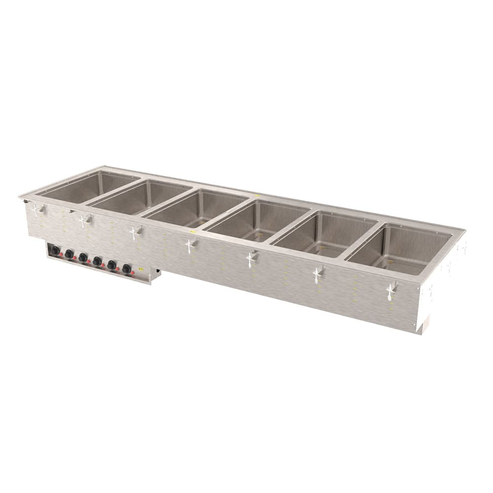 Vollrath 3640961 Drop-In Hot Food Well w/ (6) Full Size Pan Capacity, 208 240v/1ph