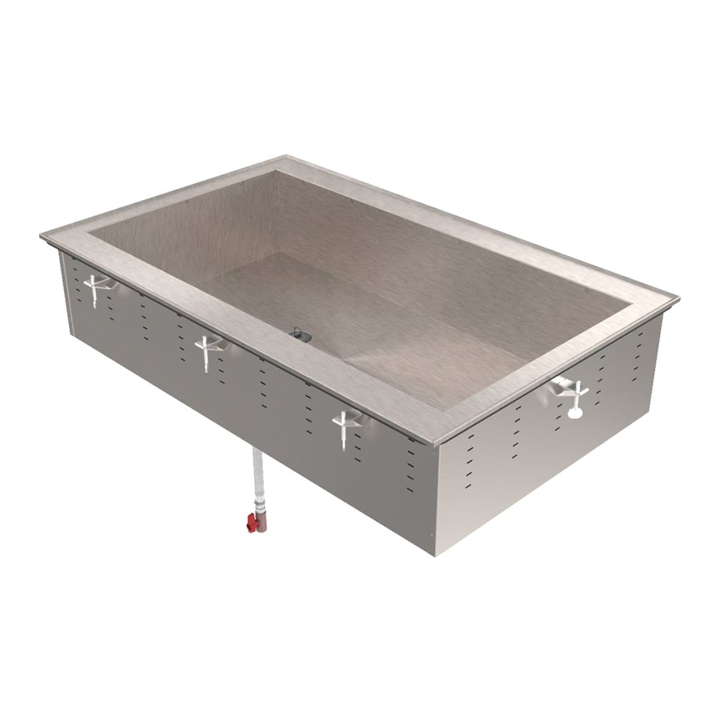 "Vollrath 36452 55"" Drop-In Cold Well w/ (4) Pan Capacity, Ice Cooled"