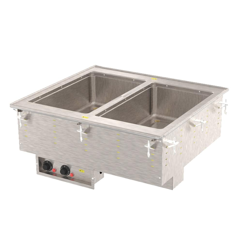 Vollrath 36472 Drop-In Hot Food Well w/ (2) Full Size Pan Capacity, 240v/1ph