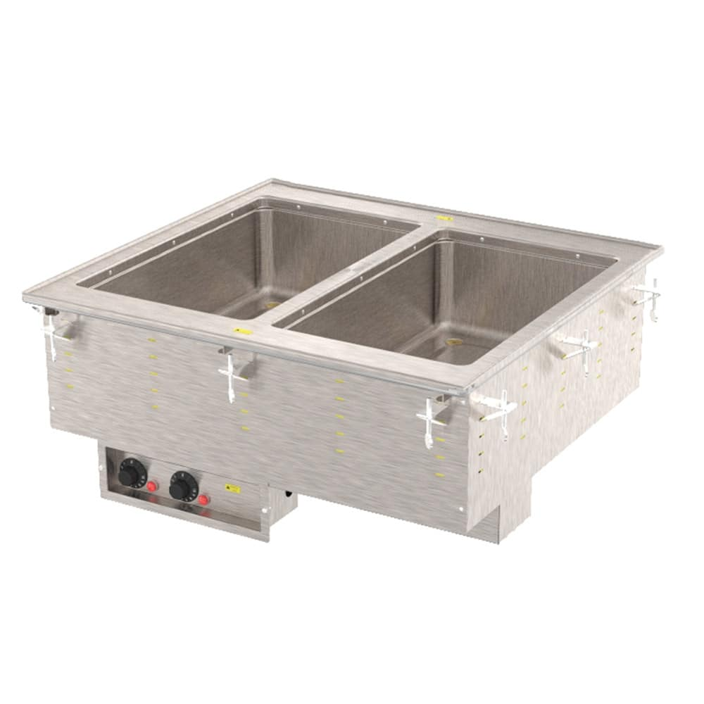 Vollrath 3647210 Drop-In Hot Food Well w/ (2) Full Size Pan Capacity, 240v/1ph