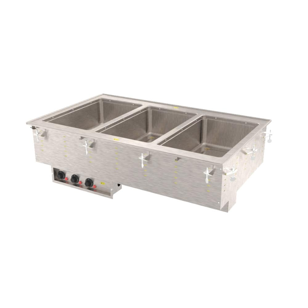 Vollrath 36473 Drop-In Hot Food Well w/ (3) Full Size Pan Capacity, 240v/1ph